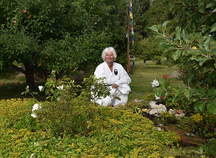 Wisdom Master Maticintin in the Stupa Mandala Garden at Skycliffe