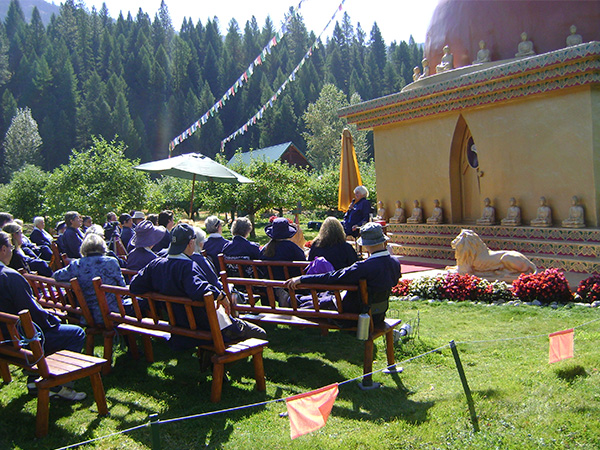 Teaching Session at the Stupa