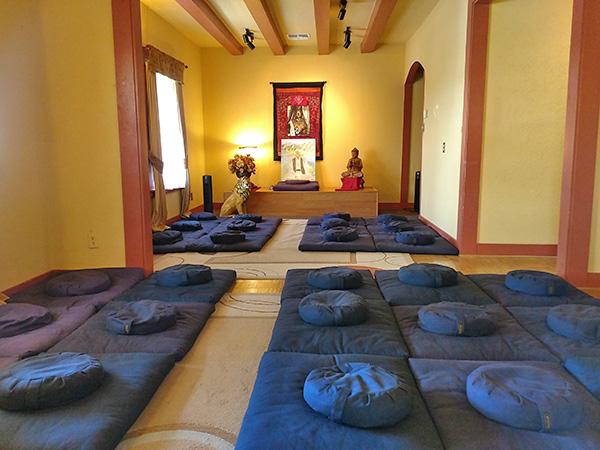 Dharma and Meditation Center - inside