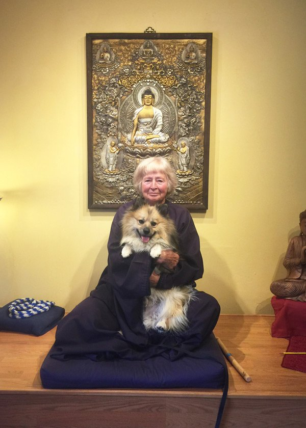 Wisdom Master and her dog Tantra